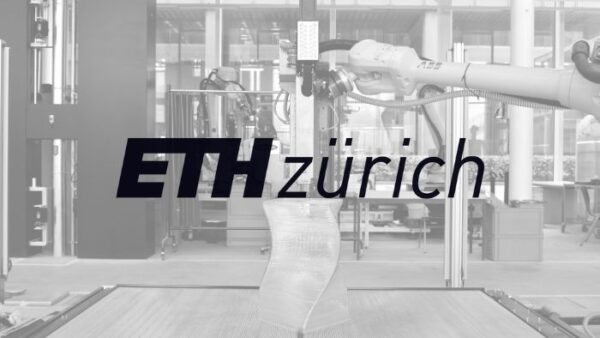 ETH Zurich logo with black and white background picture of 3d printing
