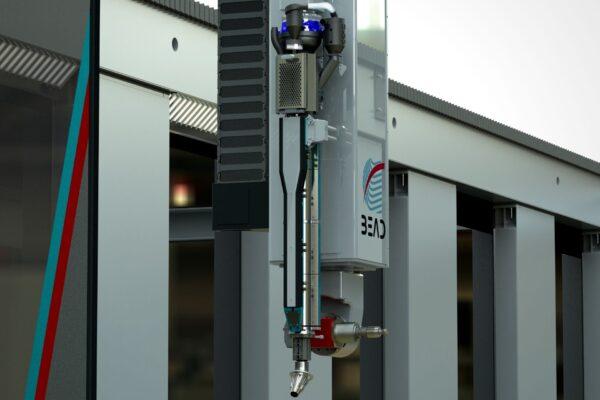 Close up of the BEAD hybrid machine